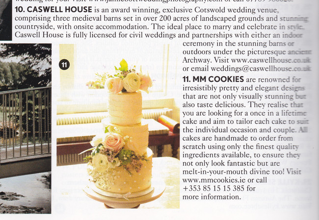 mmcookies couture wedding cakes limerick vogue cover june mmcookies 17458